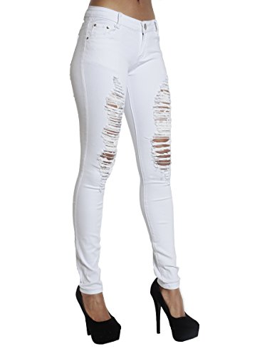 Faded Donna Jeans Ripped Lustychic Dark Blue wHIqqF