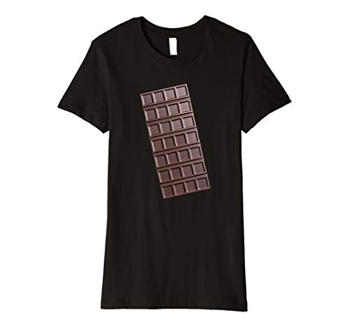 Womens Chocolate Bar Shirt Smores Halloween Costume T-Shirt