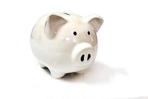 White Piggy Bank, Piggy Bank for Girls Boys Kids Piggy Banks A New Piggy Banks for Gift(White) ()