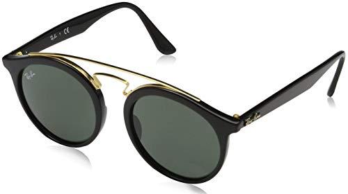 Ray-Ban New Gatsby I Round Sunglasses, Tortoise/Green Classic, 49 ()