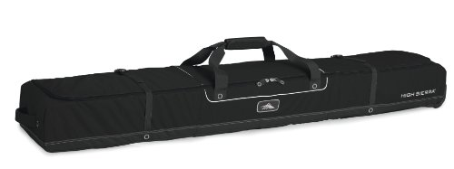 High Sierra Wheeled Ski Bag for Two Pairs of Skis (Up to 170cm) - Black