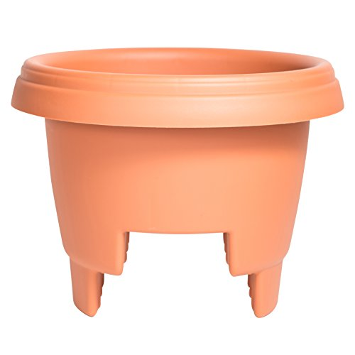 Bloem Deck Balcony Rail Planter 12'' Terra Cotta by Bloem