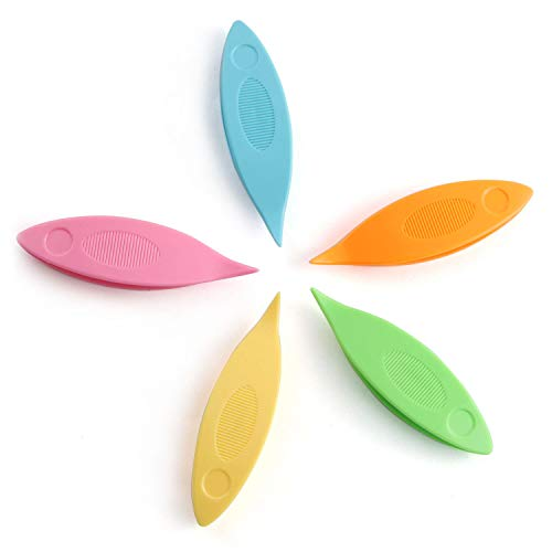 NX Garden Tatting Shuttles Set 5 PCS Colorful Plastic Tatting Shuttles for Lace DIY Hand Lacemaking Craft Tool