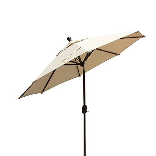 EliteShade 9Ft Market Umbrella Outdoor Patio Backyard Aluminum Table Umbrella, Bonus Weatherproof Cover (FadeSafe Beige) For Sale