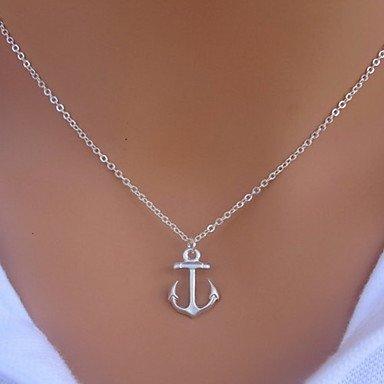 vintage anchor necklace - 7