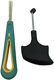 Eastdall 2 peças de raquete de tênis de badminton ferramentas de corda Movimentador de corda para raquete de t