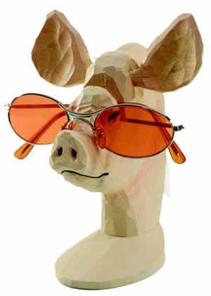 Amazon pig peeper wood eyeglass and business card holder pig peeper wood eyeglass and business card holder reheart Images