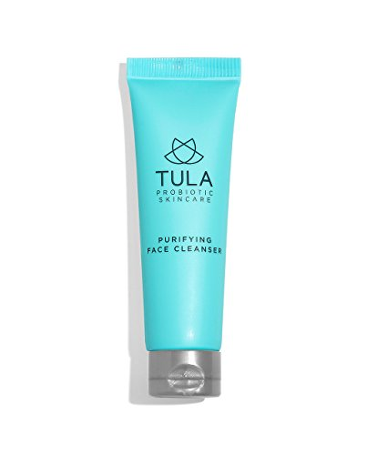 (TULA Probiotic Skin Care Purifying Face Cleanser (Travel-Size) | Gentle and Effective Face Wash, Makeup Remover, Nourishing and Hydrating | 1 oz)
