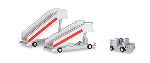 Herpa 551809Mini Historical Passenger Stairs with Tugboat Vehicles