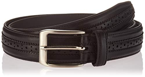 Florsheim Men's Boselli 33MM Dress Casual Leather Belt, black, 36