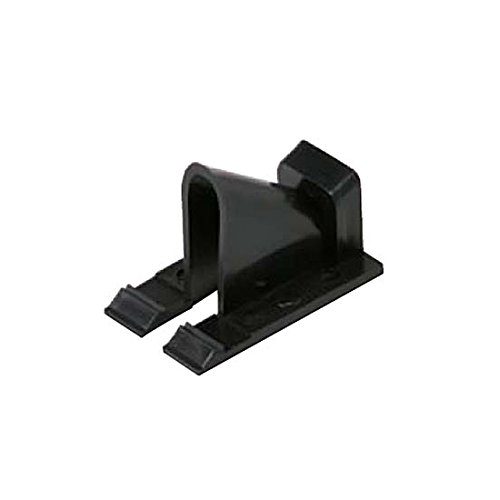 Price comparison product image Vertical Siding Clips Black Single Coaxial 100 Pack RG-6 RG-59 Home Exterior TV Video Signal Coaxial Line Snap-In for Vinyl and Aluminum Siding Support Fastener RG59 RG6