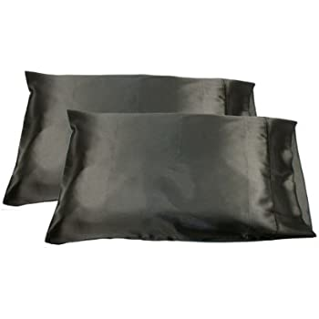 Amazon.com: 2pc New Queen/Standard Silk~y Satin Pillow