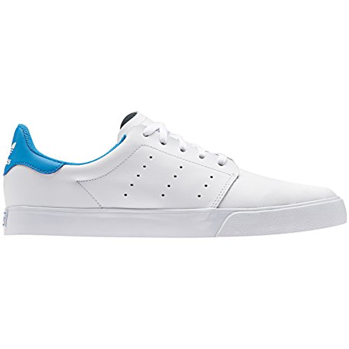 Adidas Seeley court, Baskets mode pour homme, Blanc–(Ftwbla/Ftwbla/azubri) 411/3