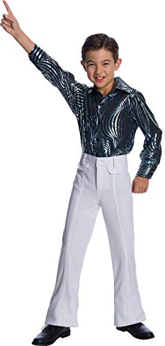 Charades Little Boy's Disco Pants Childrens Costume, White, X-Small