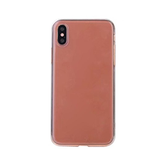 Price comparison product image Apple iPhone X Cases,  METFIT Colorful Clear Ultra Thin Case TPU Soft Crystal Transparent Cover (Rose gold)