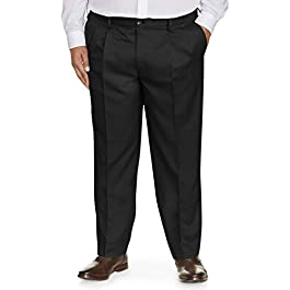 Amazon Essentials Men's Big & Tall Classic-fit Wrinkle-Resistant Pleated Dress Pant fit by DXL