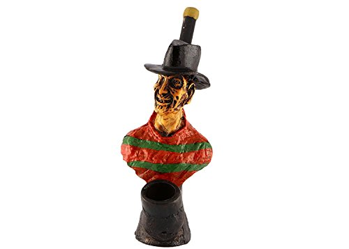 (Handmade Tobacco Pipe Horror Movies Hand Painted Art Collectible (Freddy Krueger))