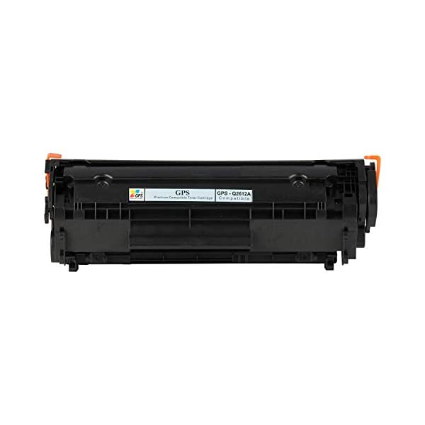 Gps Compatible Black Toner Cartridge for HP 12A Q2612A Standard Yield (2,000 Pages) for Printers 1010 1012 1015 1018 1020 1022 3015 3020 3030 (4 pcs)