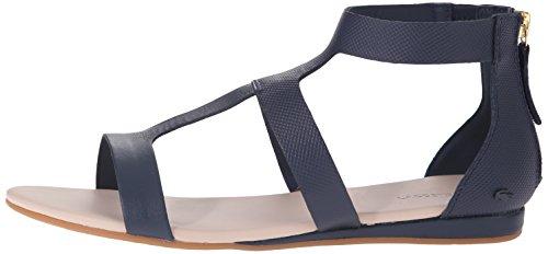 Lacoste Women's Atalaye 116 1 Gladiator Sandal, Navy, 5 M US