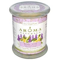 Aroma Naturals, Soy VegePure, Soy Pillar Candle, Serenity, Ylang Ylang & (Aroma Naturals Pillar Candle)