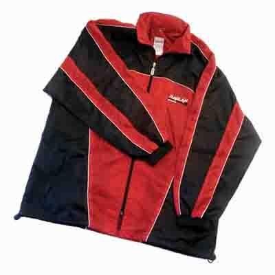 Regenjacke, rot/schwarz, Größe L