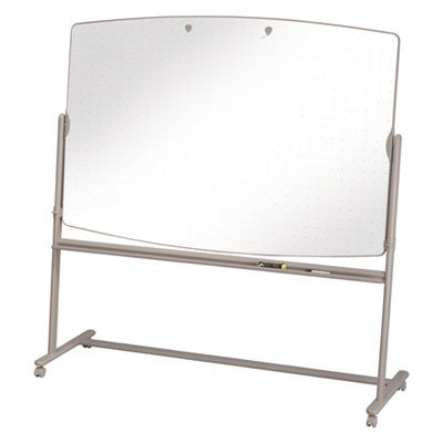 Total Erase Reversible Mobile Easel, 72 x 48, White Surface, Neutral Frame, Sold as 1 Each ()