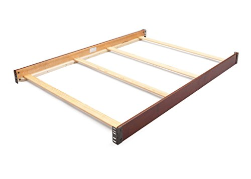 Full Size Conversion Kit Bed Rails for Delta Children's Bentley Cribs - Black Cherry Espresso ()