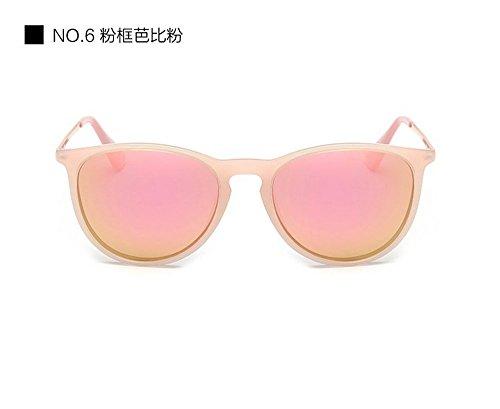 Pantalla Personalidad Viaje Sol De Reflectantes Gafas Gafas Parejas Azul Sol Bastidor De polvo polvo Redondo Señoras Moda Hielo de Negro De De JUNHONGZHANG Gafas Brillante De Gafas en Z7PUn0nx
