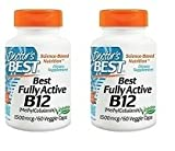 Doctor's Best Fully Active B12 1500 Mcg Vegetarian Capsules, 120 Count