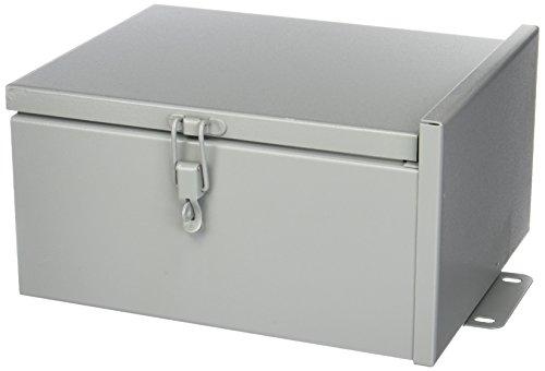 Nema 3r Junction Box - Wiegmann RHC101206 RHC-Series NEMA 3R Rainproof Hinge Cover Wall-Mount Enclosure, Carbon Steel, Small, 12