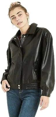 Leather Bomb Jacket