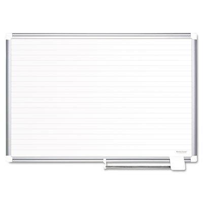 Ruled Planning Board, 48x36, White/Silver, Sold as 1 Each