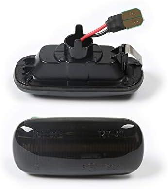 color negro Intermitentes laterales LED compatibles con A3 8P A4 B6 B7 y Cabrio C6 4F