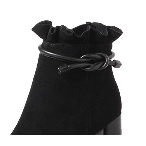 Confort Pour Style Chaussures Et Américain Européen Chaussons Zpedy Mode Femmes Black Portable q45fz
