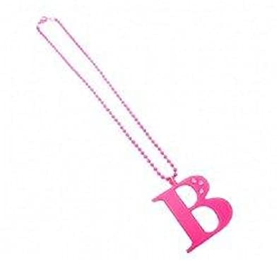 6f1fd9408186ce Anna Lou of London Pink letter B necklace: Amazon.co.uk: Jewellery