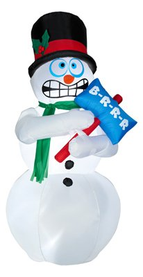 Animated Shivering Snowman Inflatable - 6 Feet Tall - Shivers and Shakes - Gemmy by Gemmy