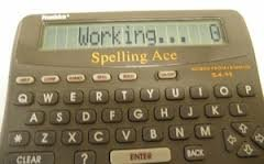 Franklin Spelling Ace w/Thesaurus Games Crossword SA-98 by Franklin (Image #1)