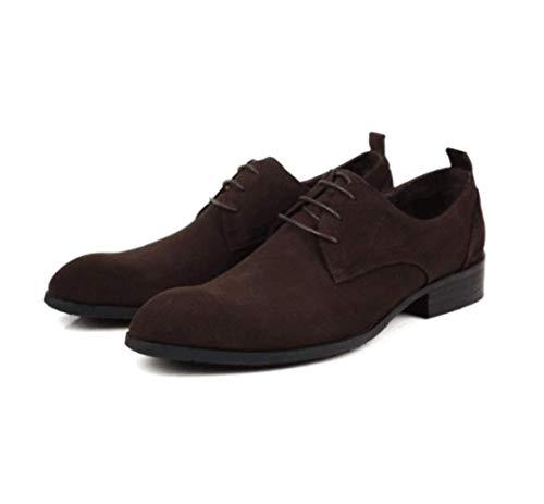 De Frostedbrown Hombres Zapatos Encaje Cuero Vestir Los Inglaterra Negocios Xdljl SZ1TwqR