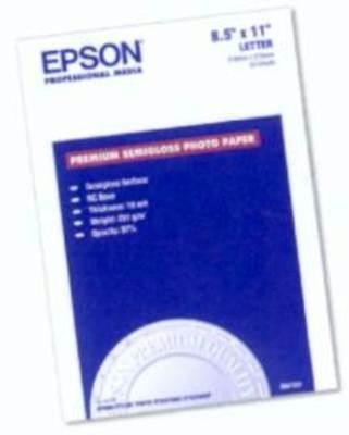 20-Sheet Letter Prem Semigloss Photo Paper for 1270-870-875DC 2000P - Dupe, Refer to B000069E2F - Epson Prem Photo Paper