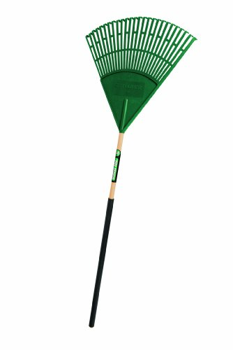 Head Lawn Rake (Truper 30463 Tru Tough Plastic Leaf Rake, 24-Inch Head, 36-Inch Comfort Grip, 48-Inch)