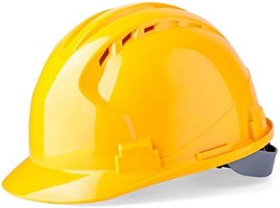 LCSHAN 耐衝撃性増粘ヘルメットサイト電気技師調整可能な安全ヘルメット (Color : Yellow)