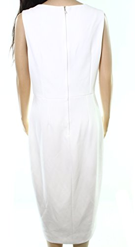 Betsy Dress Womens Petites Embellished amp; Crepe Cocktail Adam White 0rqn0x6