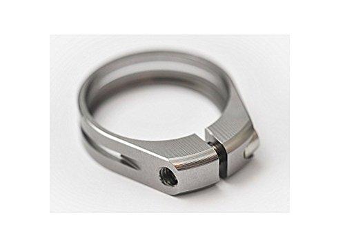 J&L Ultra light Ti/Titanium bolt Seatpost clamp 31.8/34.9-9g (Chrome, 34.9mm(10g) for 30.9 or 31.6 seatpost) by J&L