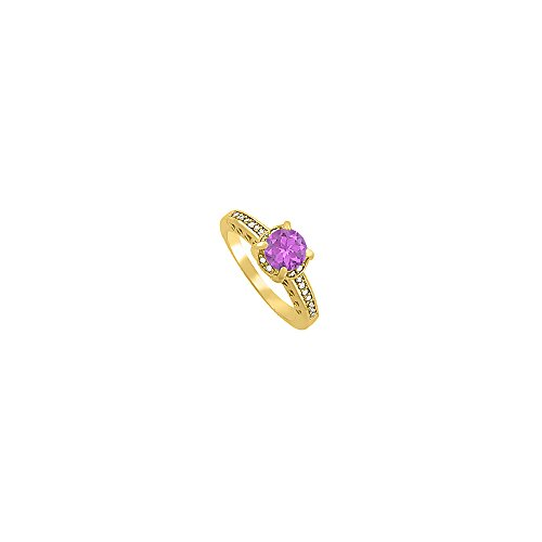 Beautifully Crafted Amethyst and CZ Ring 1.25 TGW