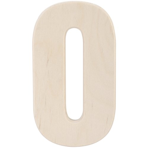 MPI Baltic Birch University Font Letters and Numbers, 5-Inch, Number 0]()