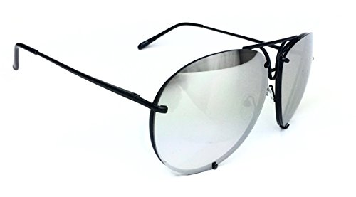 Aviator Vintage Womens Sunglasses Retro Eyewear Lens Black - 6