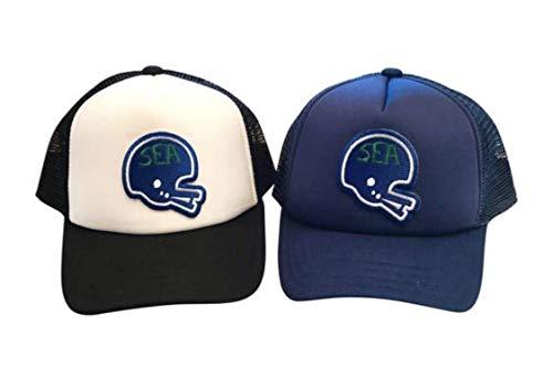 Seattle Football toddler adjustable trucker hat. Seattle Hawks toddler foam trucker - Football Foam Hawk