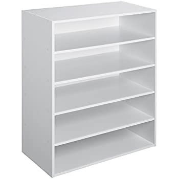 ClosetMaid 1565 Stackable 5 Shelf Organizer, White