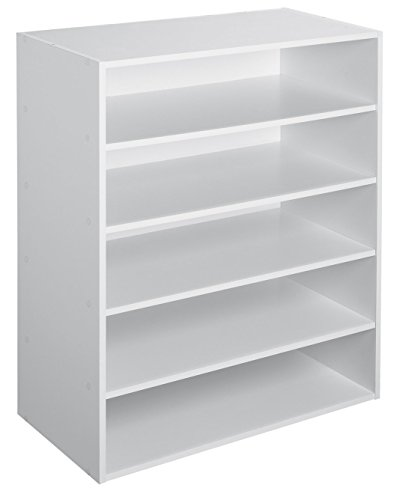 Closetmaid 1565 Organizador Apilable de 5 Estantes, blanco