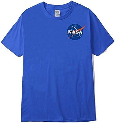 TNM La Camiseta Oficial con el Logotipo de la NASA Insignia,Azul,S: Amazon.es: Hogar